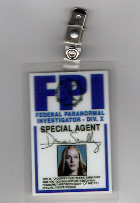 X-Files Tv Serien Id Badge-Agent Dana Scully Miniseries Kostüm Requisite Cosplay