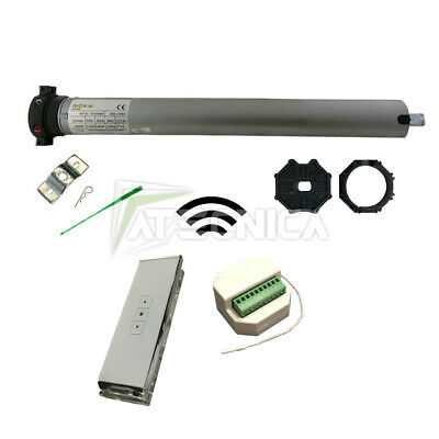 Kit automatización persianas motor tubular 30 Nm 60kg central+mando a distancia