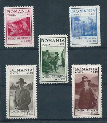 Romania 1931 Boy Scouts Exhibition Fund Set Mint Hinged Good CV