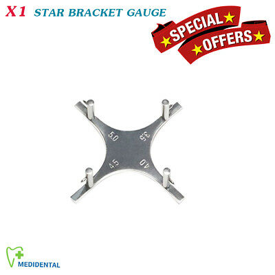 Star Like Bracket Gauge Orthodontics Positioning  Instruments Dental Lab Gauges