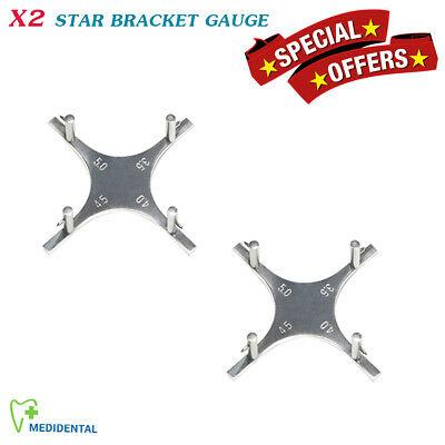 Star Like Bracket Positioning Gauge Orthodontic Dental Instruments set of 2 CE