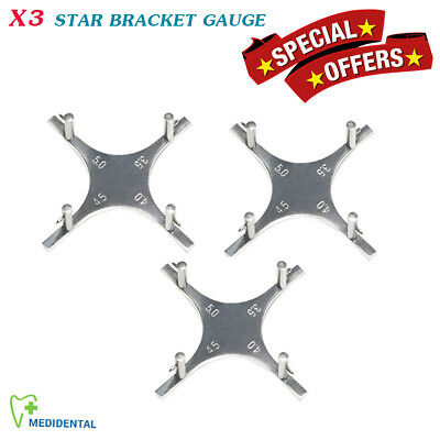 Set Of 3 Star Like Gauge Orthodontic Bracket Positioning Measuring Lab Tools New