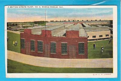 Postcard ~ Muscle Shoals Alabama nitrate plant number two ~ Vintage 1730