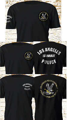 New SWAT Tv Series Los Angeles Police Department LAPD Black T-Shirt S-4XL