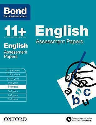 Bond 11+: English: Assessment Papers 8-9 years by Sarah Lindsay 9780192740021