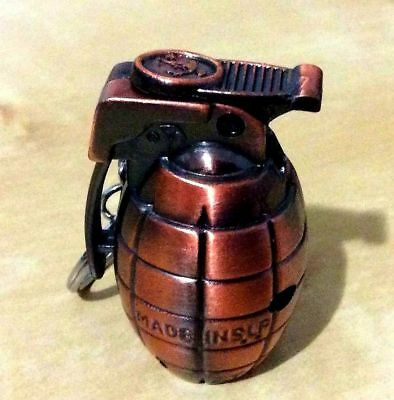 Hand Grenade Keychain WINDPROOF TORCH Butane Refillable Lighter- FREE SHIPPING