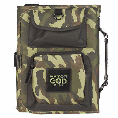 Organizer Tri-Fold in Camouflage Bible Cover, Size Large