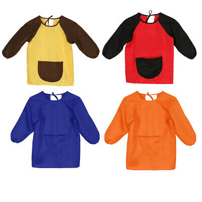 Kids' Painting Apron Clothes, Art Smock Sleeved Bib for Children ages 1-14