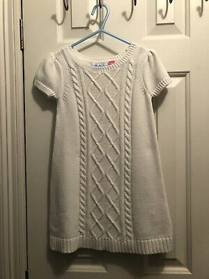 8c08dfef603 Childrens Place Girls Cable Knit Sweater Dress Short Sleeve Size 4T Ivory