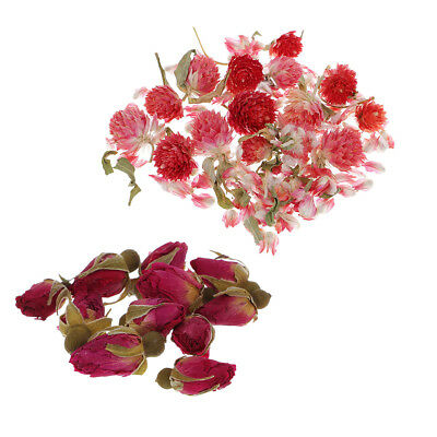 8g Natural Real Flower Dried Flowers Mini Rose Flower for DIY Pendant Charms