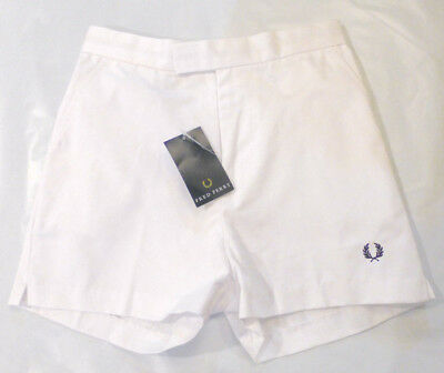Vintage FRED PERRY Tennis Shorts, White, Size Age 9/10, NWT