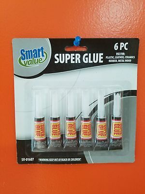6 pc Tubes of Super Glue  Adhesive' FREE SHIPPING USA SELLER