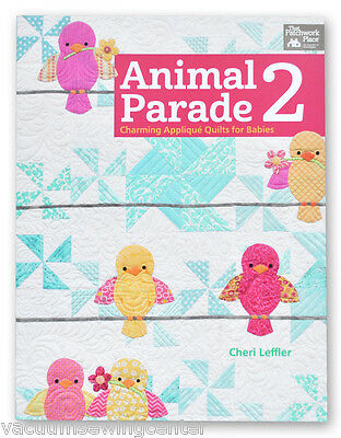 Animal Parade 2 Book Encantadora Aplique Quilt para Bebés