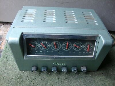 Bell Sound Systems tube Amp Amplifier model 3725b Tested