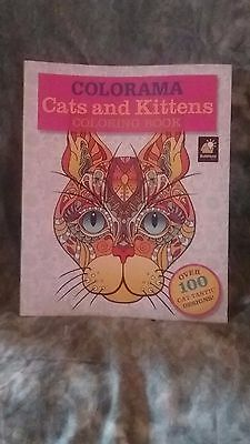 Colorama Cats And Kittens Adult Coloring Book