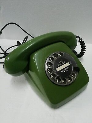 Telefono Fisso Vintage Made In Germany Anni 50 60 Feuer Notruf Post Tedesco Funz