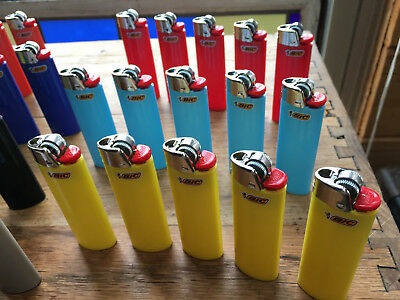 10 Bic Classic lighters, Full size, Solid Color, your choice