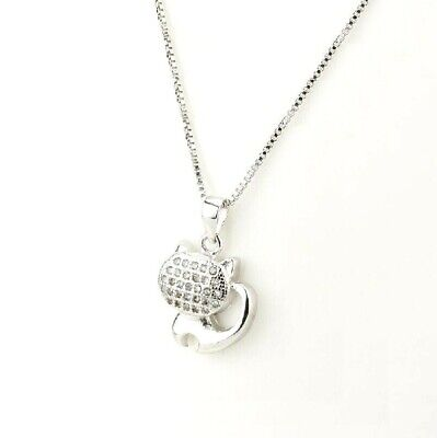 Lovely Heart 925 Sterling Silver Pink Dancing Cubic Zirconia Pendant Necklace