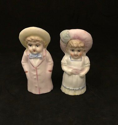 Kate Greenaway salt and pepper shakers antique