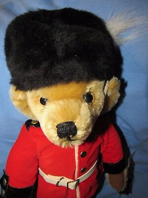 "Vintage 18"" Merrythought England Guardsman Mohair Teddy Bear Mint Cond W Tags"