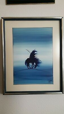 Rance Hood Native American Original Painting 1971 - NOT A COPY OR PRINT