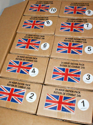 British Army 24 hour Rations camping outdoors MRE Meals