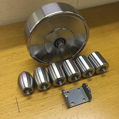Top & Bottom English Wheel Rollers, Anvils, High Quality, Includes a Cradle