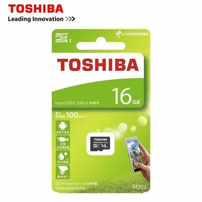 TOSHIBA 16GB Micro SD Card 100MB Class 10 With Adapter Standard Packaging NEW