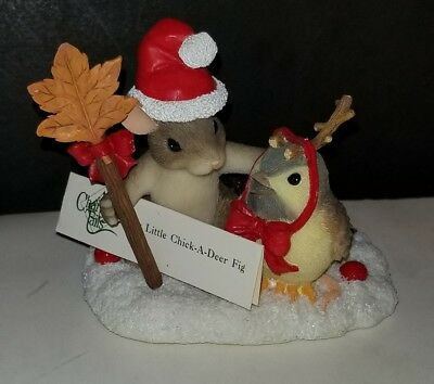 Charming Tails MY LITTLE CHICK-A-DEER Figure  Christmas  EXCELLENT CONDITION