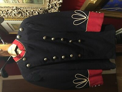 Us Civil War Union Navy General Artillery Red Staff Officers Wool Tunic