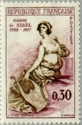 EBS France 1960 Famous People - Madame de Staël (1766-1817) MNH** (FR1322)