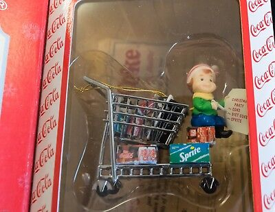"""Enesco 1997 Coca-Cola Masterpiece Edition Ornament """"Stocking Up For The Holidays"""