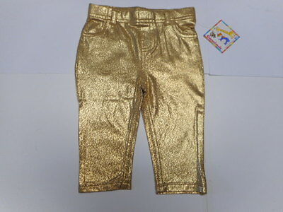 Baby girls leggings Baby clothes Gold Toddler Silver Jeggings Jeans 3/6 mo to 5T