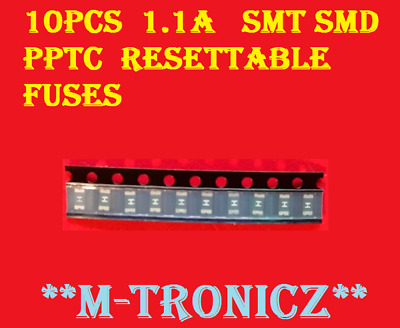 10Pcs  1.1  Amp     Smt Smd Pptc   1206    Resettable Fuses