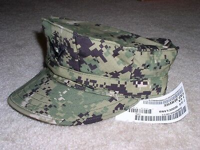 US Navy Seal NWU Type III Digital AOR2 Utility Working Hat/Cap - Size:7 3/4 (XL)