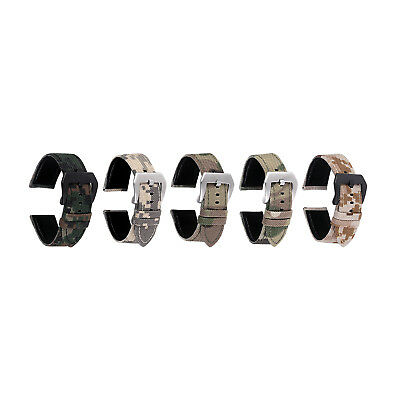 Quality Cordura 1050D Camo Watch Strap Band 20mm 22mm Quick Release Pins
