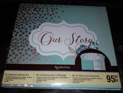 Recollections Our Story 12x12 Scrapbook Photo Album Only New -no patterned paper
