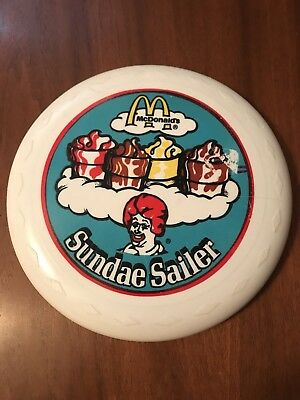 McDonalds sundae sailer frisbee collectible vintage food clown Ronald McDonald