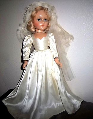 "1930's 18""Madame Alexander composition Wendy Ann Bride Doll in Original Dress"