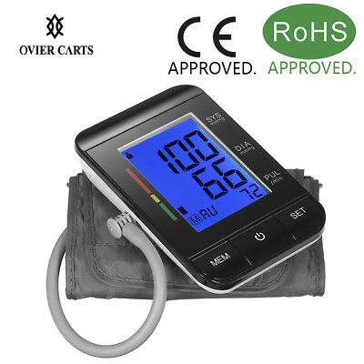 Arm Blood Pressure Monitor Large Cuff Heart Beat Meter Machine Home BP Home