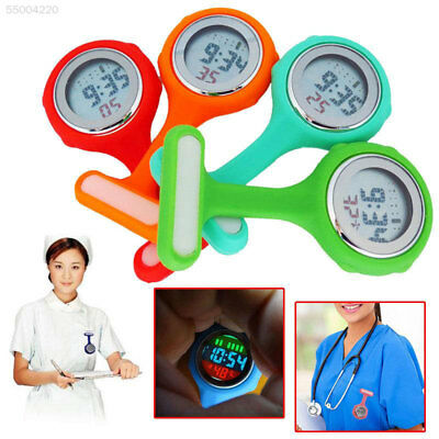 5CEF Colorful Multi-function Digital Silicone Nurse Watch Watch with Quartz Move