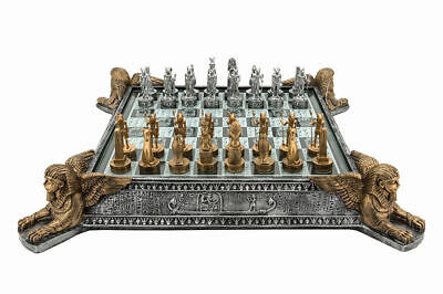 """Dal Rossi Italy Egyptian Resin Chess Set 16"""" Board - Brand New"""
