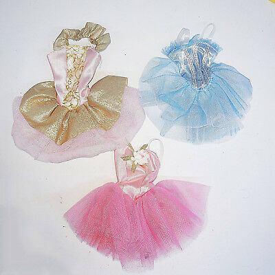 Barbie Doll Clothes : 3 Pcs Ballet Uniform / Leotard