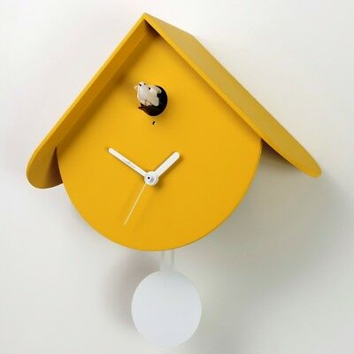 TITTI 2077 yellow Contemporary look for the new wall cuckoo clock