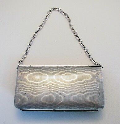 Unusual GERMAN NOVELTY Solid Silver .800 Coin Wallet Card Case Chain Purse Bag
