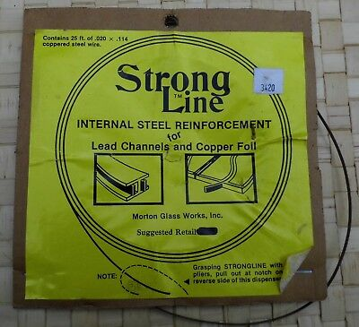 Stained Glass Tools - Strong Line Internal Steel Reinforcement for Lead Channels