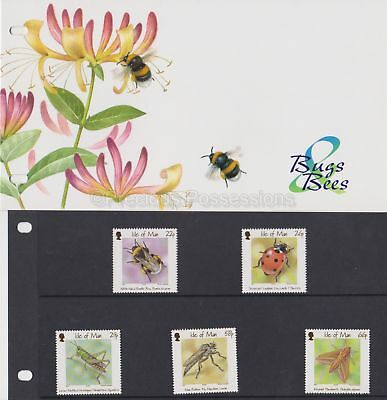 ISLE OF MAN Presentation Pack 2001 Bugs & Bees Stamp Set 10% off 5+