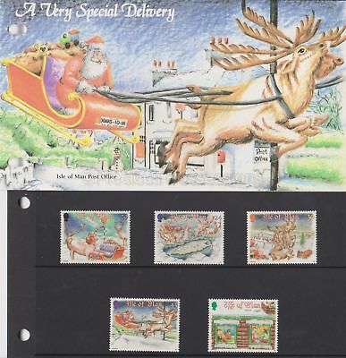 ISLE OF MAN Presentation Pack 1998 Christmas Delivery Set 10% off 5+
