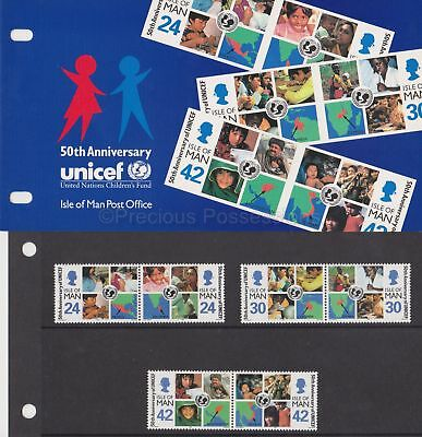 Isle of Man Presentation Pack 1996 UNICEF 50th Anniv Stamp Set 10% off 5+