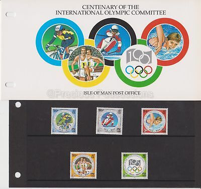 Isle of Man Presentation Pack 1994 Olympic Committee Cent Stamp Set 10% off 5+